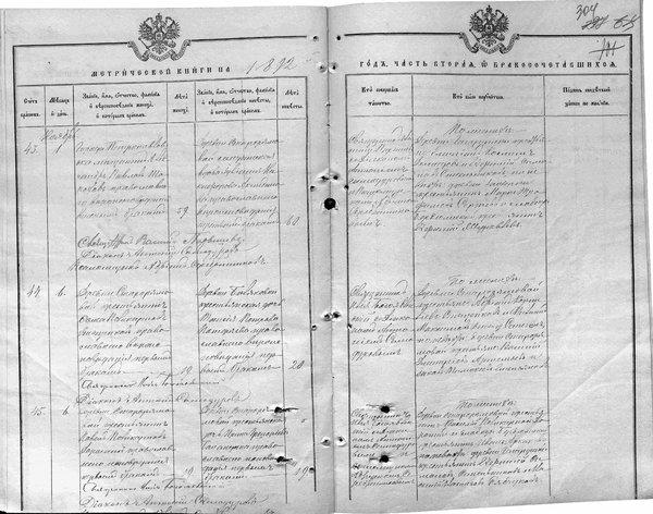 Запись о бракосочетании П.П. Доронин.JPG